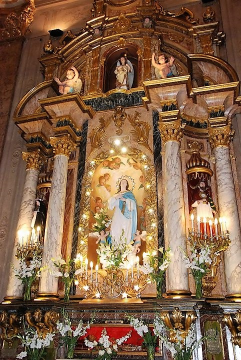 Altar Inmaculada San Jose de flores